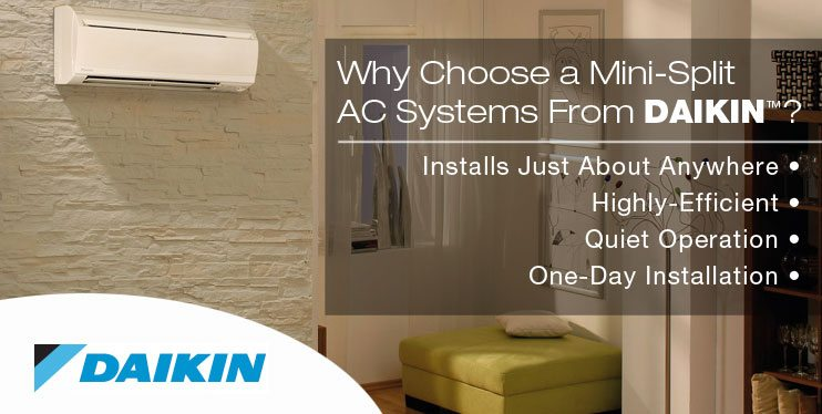 Chicago Daikin mini split ductless air conditioner installation