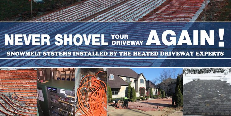 snowmelt systems & radiant heated driveway installation in Chicago, IL and Suburbs