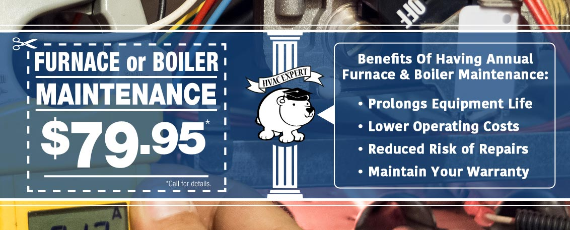 Chicago furnace maintenance and Chicago boiler maintenance $79.95.