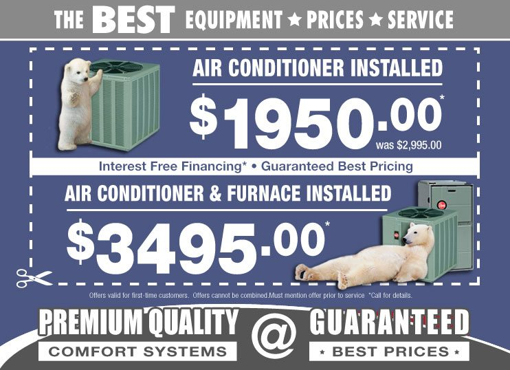 Air conditioning coupons for ac replacement in Chicago