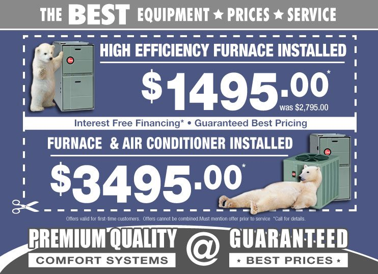Chicago new furnace installation and replacement sale coupons