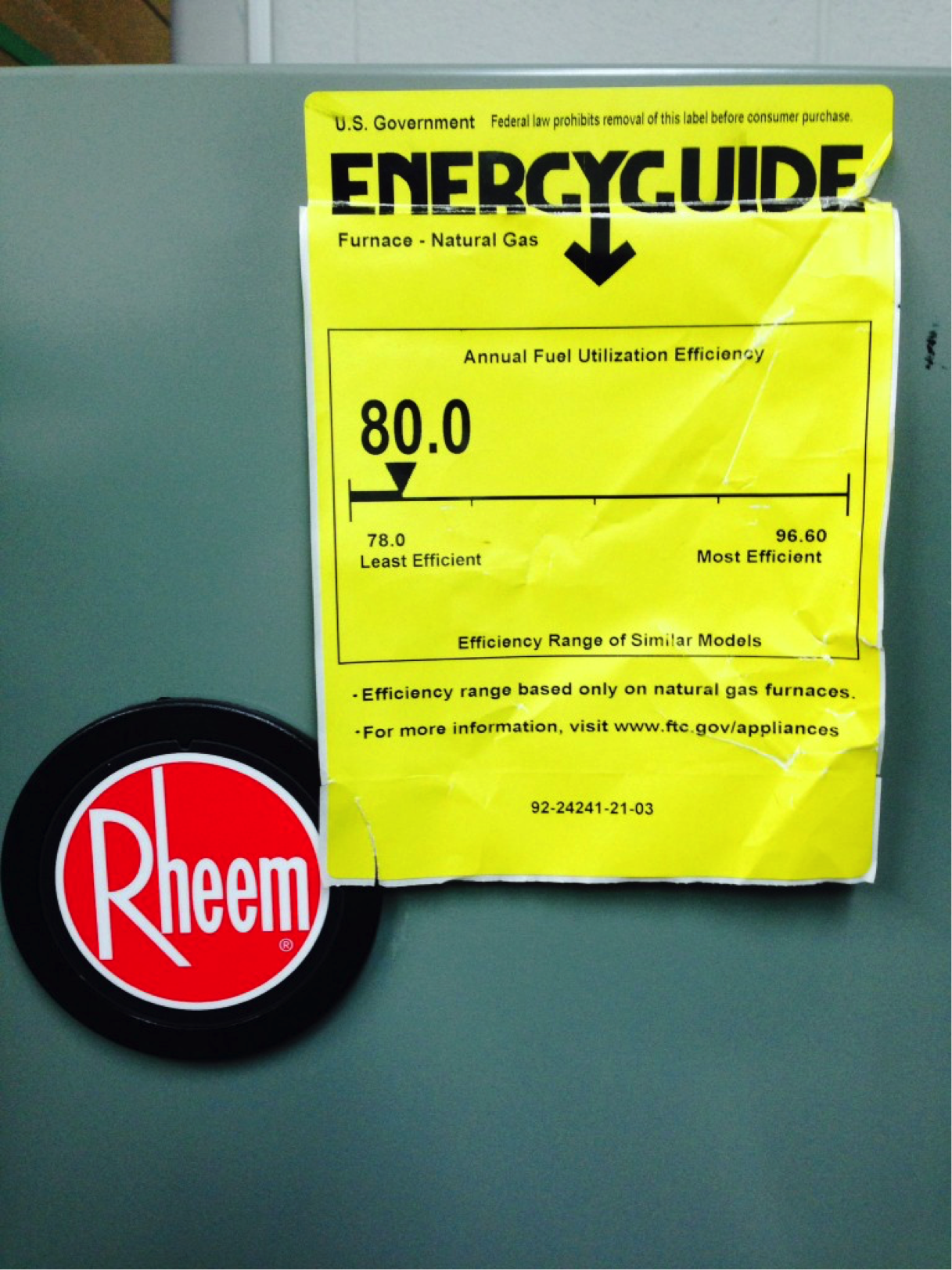 New Furnace Energy Guide Label Chicago Heating Amp Cooling
