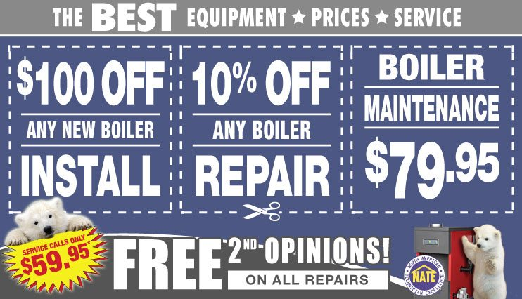 boiler installation, boiler repair, boiler maintenance coupons