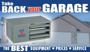 garage heaters, hot dawg garage heaters, empire garage heaters installation chicago, il