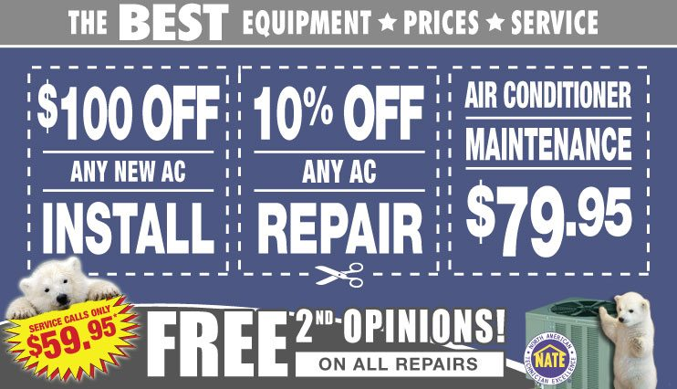 air conditioner maintenance repair installation specials