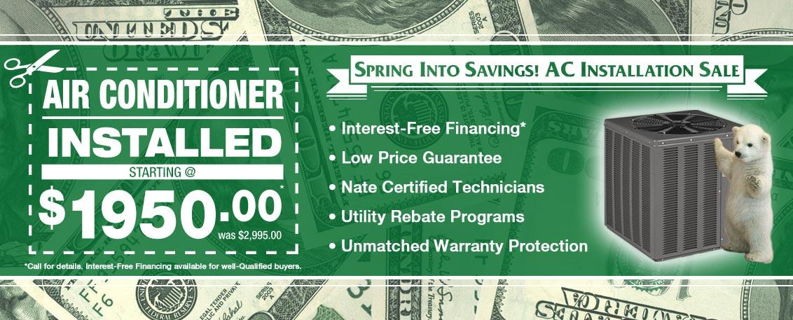Chicago Air Conditioner Installation Sale Spring 2016