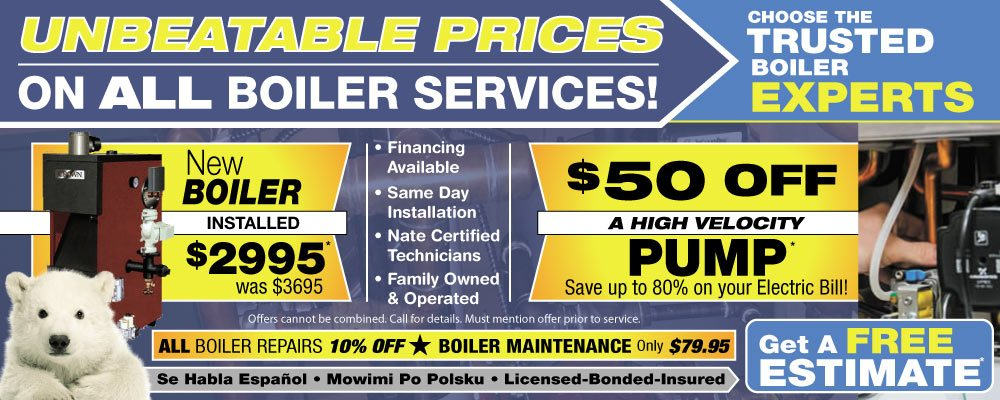 Save money on all Chicago boiler service