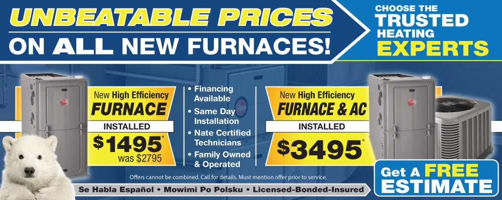 New furnace sales chicago