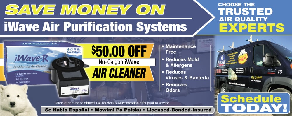 nu-calgon iwave air purifier & air cleaner installation and sales chicago