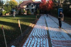 snow melt systems Chicago, IL - PEX installation