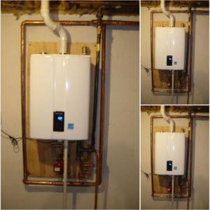 Navien combi-boiler installation