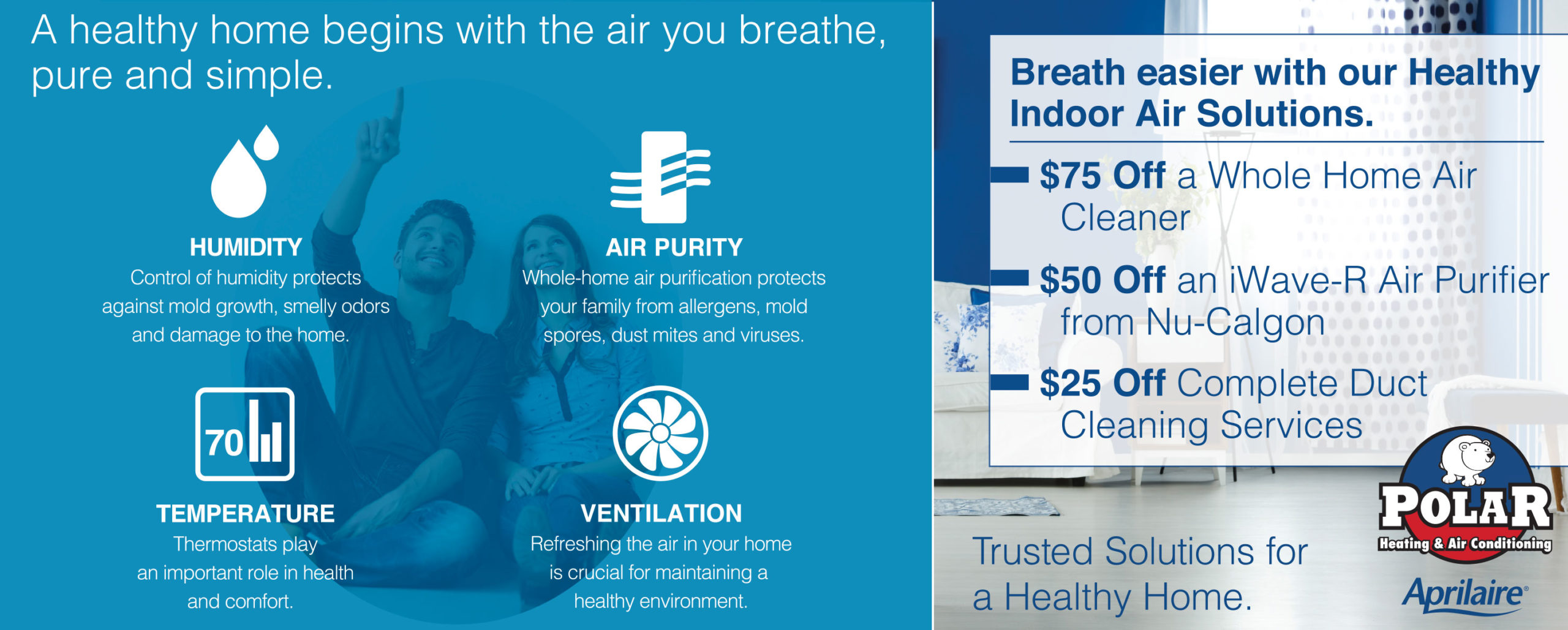 Chicago indoor air quality services. Remove viruses, bacteria, mold and more from indoor air.